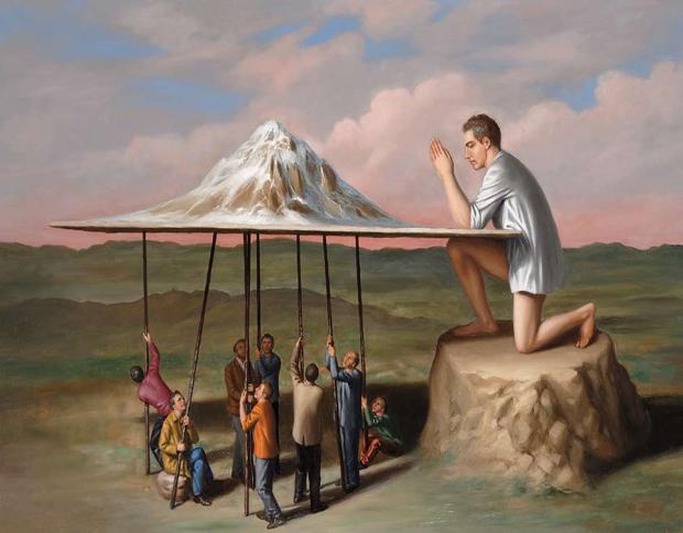 """""""Inno ad un monte"""", 2010, olio su tela, cm 100×150"""
