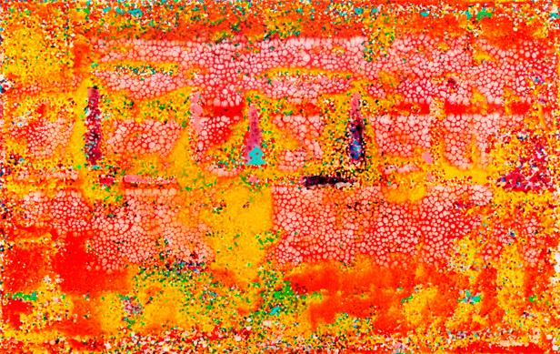 """Robert Pan, """"AR 9,275 AF"""",  2008, resina e tecnica mista, cm 154x254"""
