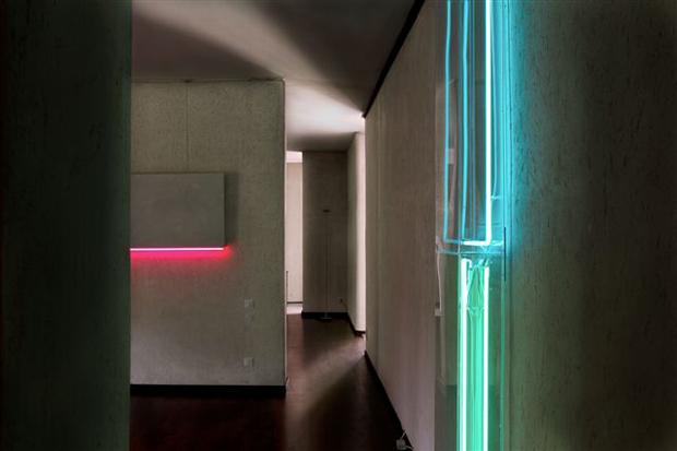 Particolare delle opere di Manuela Bedeschi ambientate negli spazi dell'appartamento detto Casa Gallo di Carlo Scarpa presso la Biblioteca Internazionale La Vigna, Vicenza