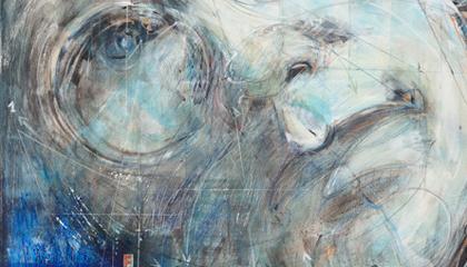 """ANDY"", 2011, olio su tela, cm 100x150. Photocredit Armando Pastorino. Courtesy Rinascimento Contemporaneo"