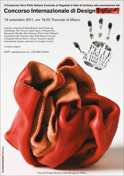 Invito premiazione Concorso Internazionale di design Pelle+