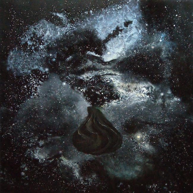 "Pietro Geranzani, ""Castagna Siderale"", 2011, Olio su tela, cm180x180"