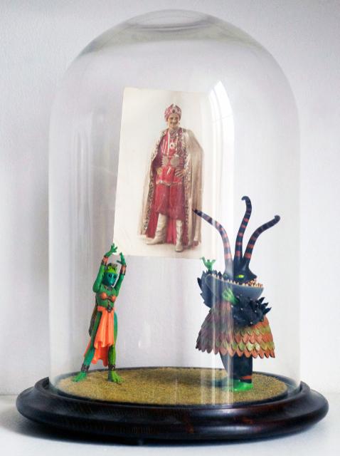 """Sebastiano Mauri, """"Alien"""", 2010, mixed media,cm 25x25x30"""