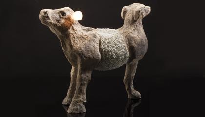 """""""Whippellino"""", 2011, poliuretano, cemento, perle, lampadine, cm 100x63x120 (h)"""