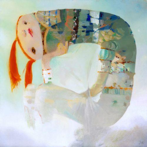 """Joe Sorren, """"In a Garden Where"""", 51x51 cm, oil on panel. Courtesy Dorothy Circus Gallery"""