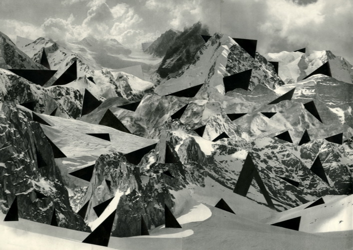Mark Harris, Continuous movement range1, 2011, collage, 50x40cm