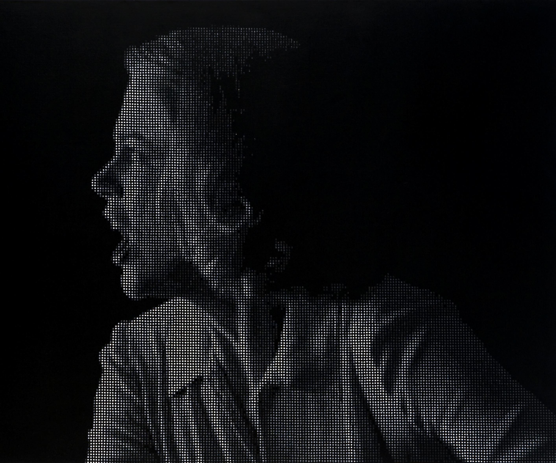 Davide la Rocca, Grace G BN, 2009, olio su tela, cm 140 x 250