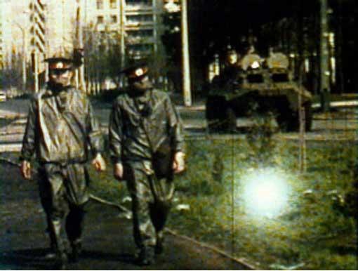 """Rossella Biscotti, """"Il sole splende a Kiev"""", 2006 Video e diaproiezioni Centro per l'arte contemporanea Luigi Pecci Comodato della Fondazione Cassa di Risparmio di Prato"""
