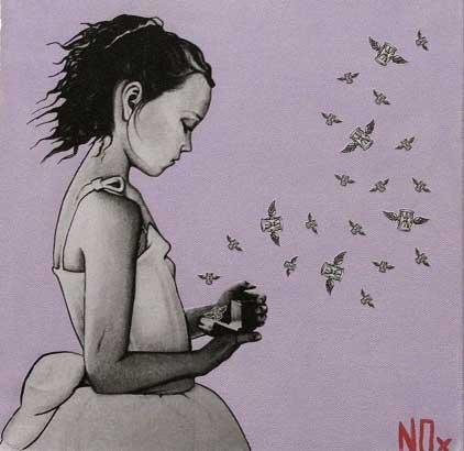 WAITING IN MEMORY, poster art - acrilico su tela, 30x30, 2011