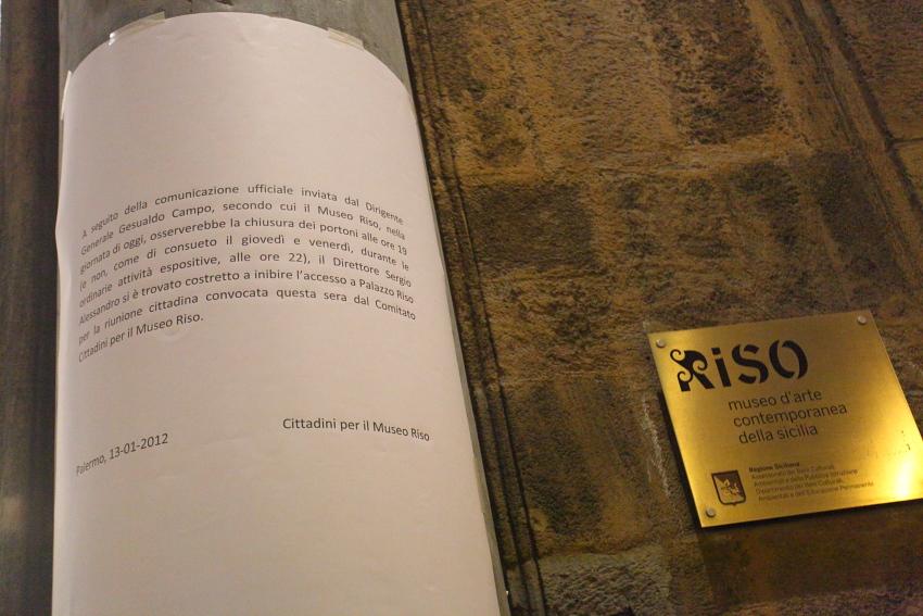 Cittadini per Museo Riso, venerdì 13 gennaio 2012, foto Alessandro Di Giugno