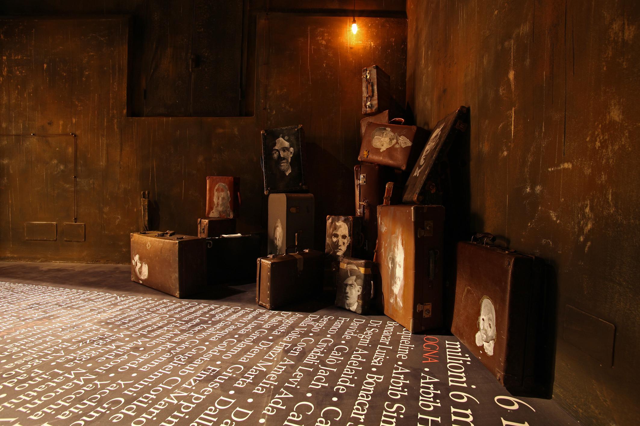Rudy Cremonini, La vita la vediamo a memoria, 2012, installazione, tecnica mista dimensioni dettate dall'ambiente, Foto di Enrico Benedettelli, Courtesy Rudy Cremonini