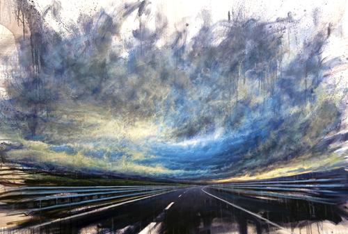 """""""Gravity"""", 2011, olio su tela, cm 150x100"""