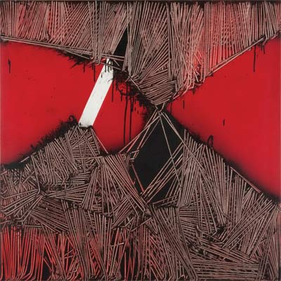 """Sotto-sopra"", 1971, olio su tavola, cm 100x100"