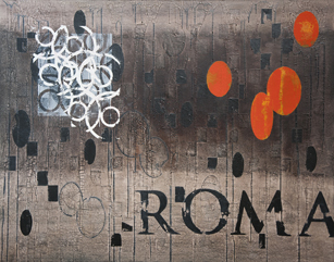 Roberto Floreani, ROMA II-la luce, 2011, tecnica mista su tela