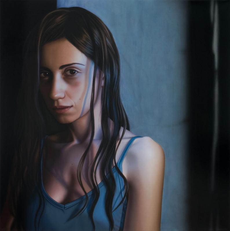 Sabrina Milazzo, Ai Limiti, 2011, olio su lino, cm 130x130