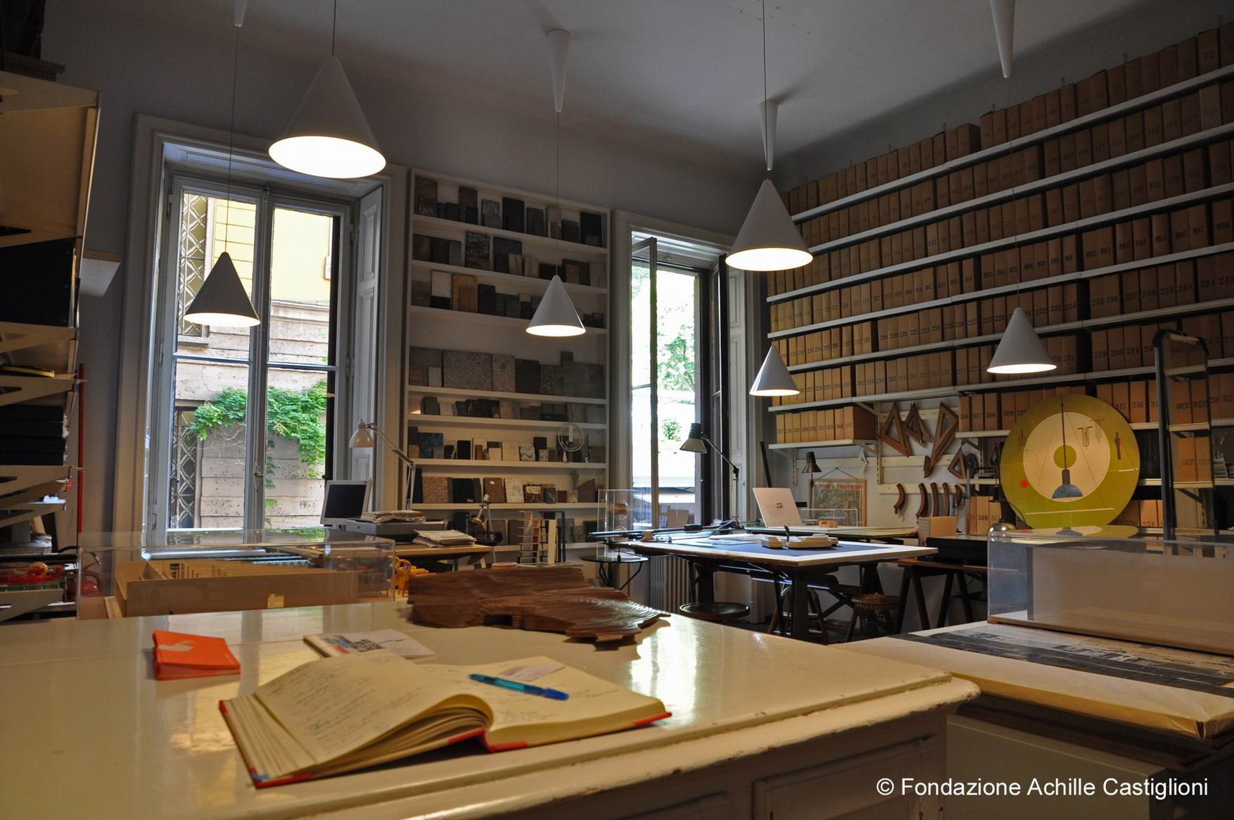Stanza dei tecnigrafi. © Fondazione Achille Castiglioni