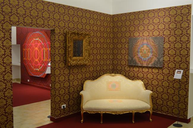 """Veduta della mostra """"Stars in my mind"""" di Vincenzo Marsiglia da Boessa Art Gallery"""