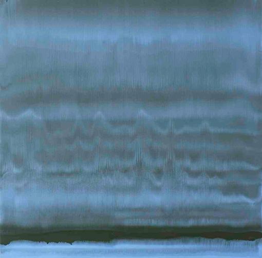 Montani, Rigirare il cielo, 2011, cm 140x144, olio su carta abrasiva