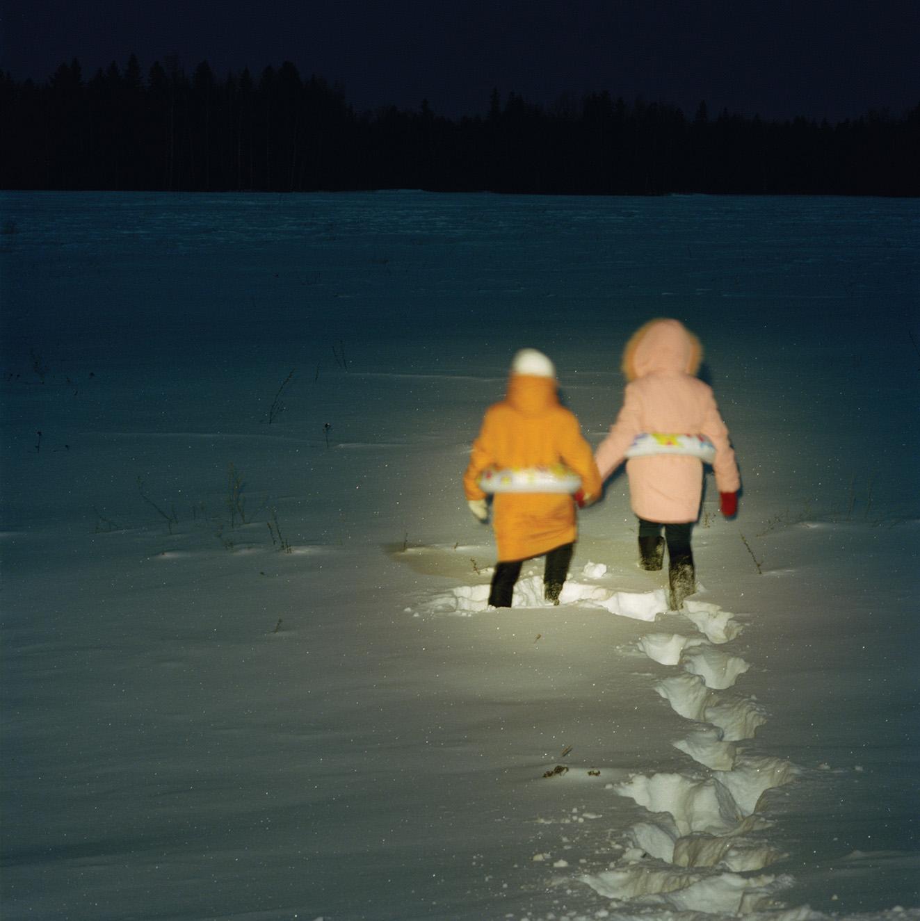 """Sofya Tatarinova, Anika Handelt Galerie - Wien, """"Night Fairy Tales"""", trittico,  2010, C-print, cm 20x20, 30x30, 40x40"""