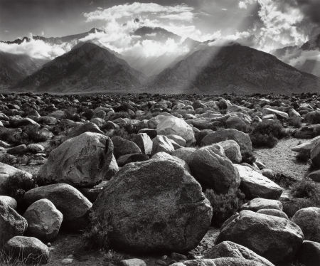 Ansel Adams, Mount Williamson, Sierra Nevada from Manzanar, 1944-70, 39.4x47 cm