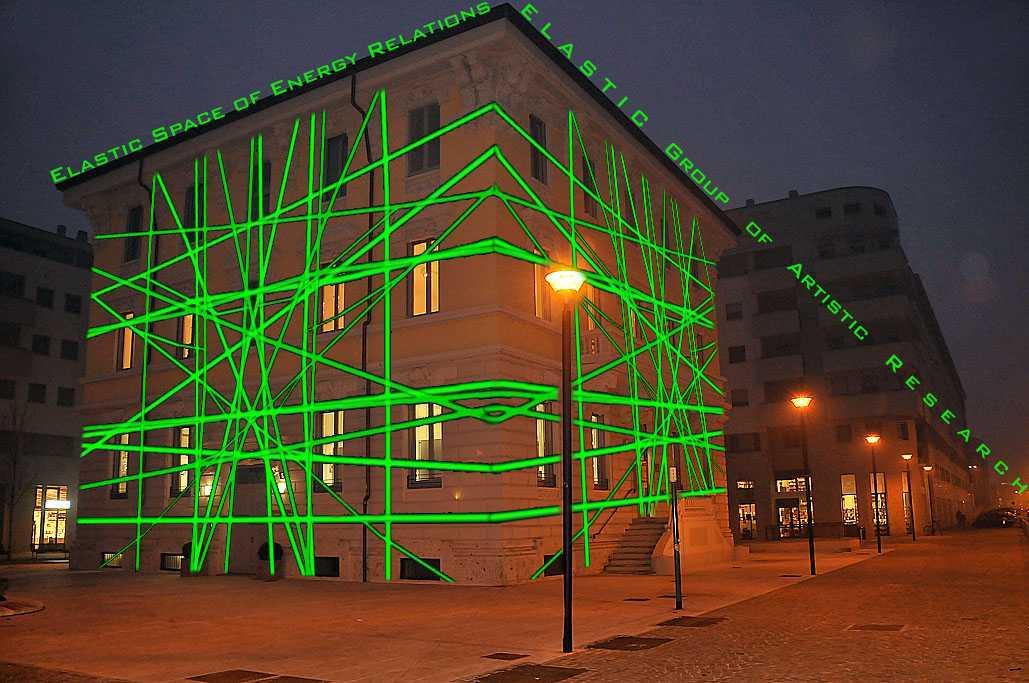 Elastic Space of Energy Relations,  Public Art di ELASTIC Group of Artistic Research, Spazio 6Centro, Milano, 2012