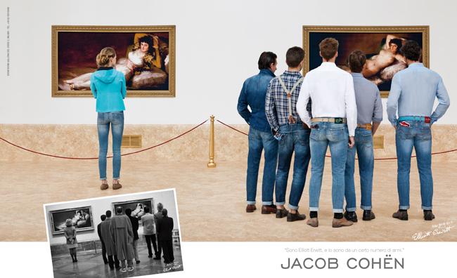 Jacob Cohën, campagna pubblicitaria firmata Elliot Erwitt