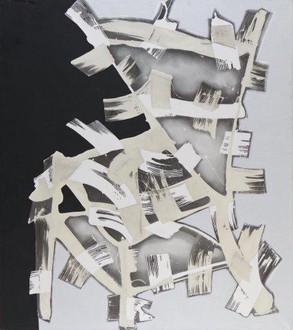 Nino Mustica, Giovedì 29 gennaio 2012, 2012, resina, pigmento e smalto su tela, cm 170x150