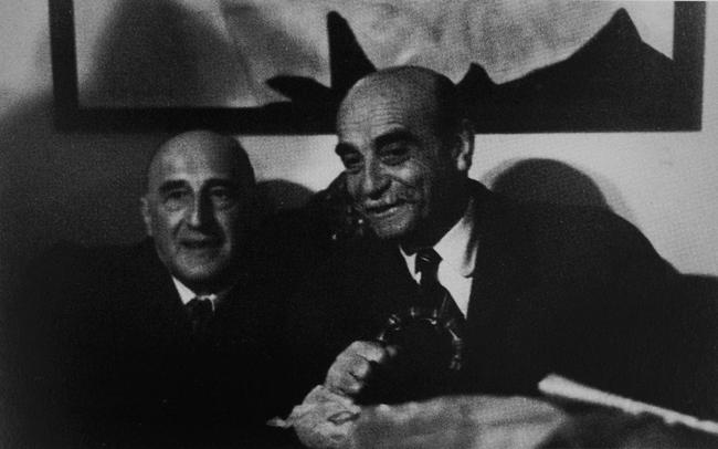 Gillo Dorfles con Lucio Fontana