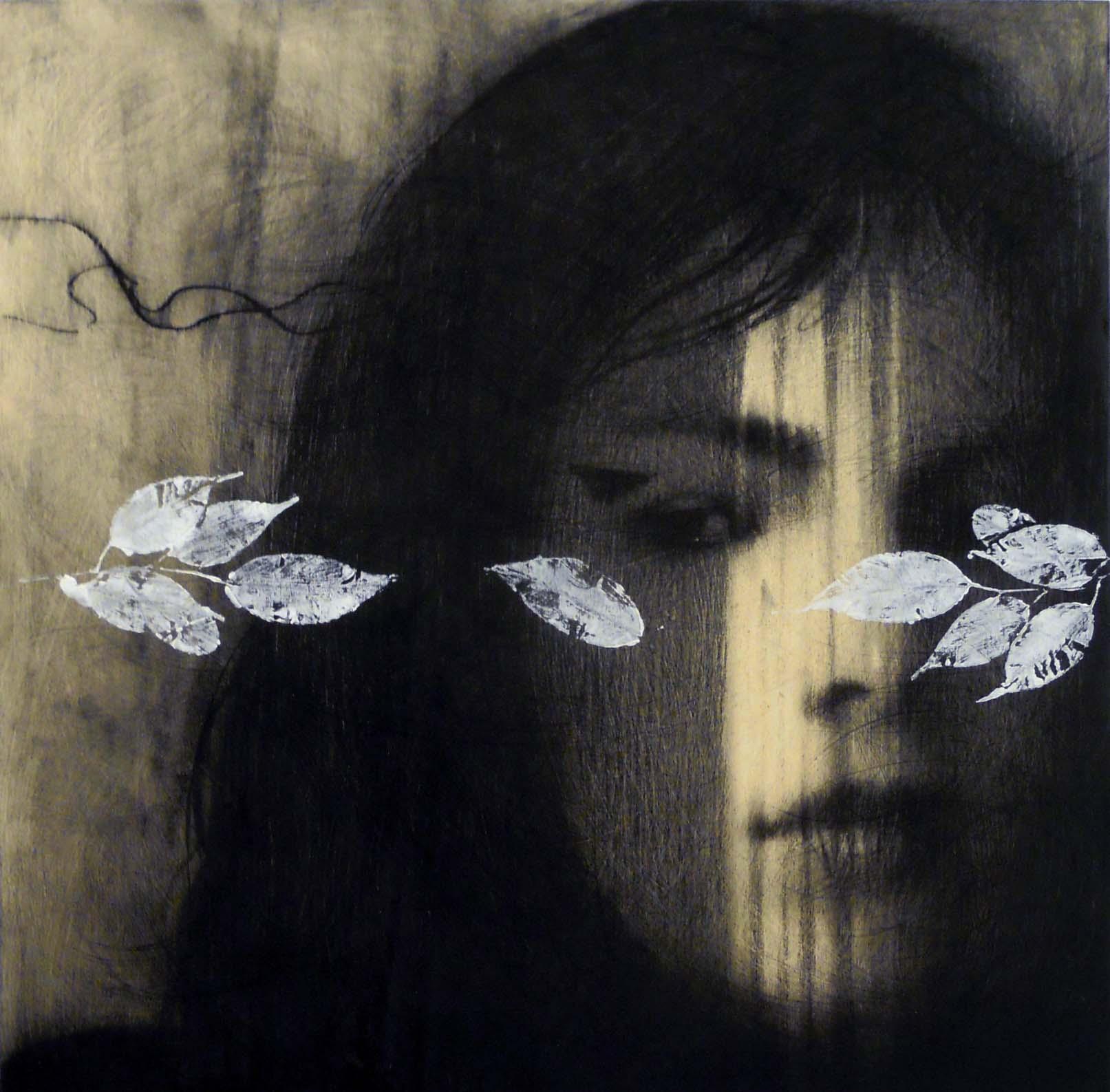 Omar Galliani, 2012, cm 50x50