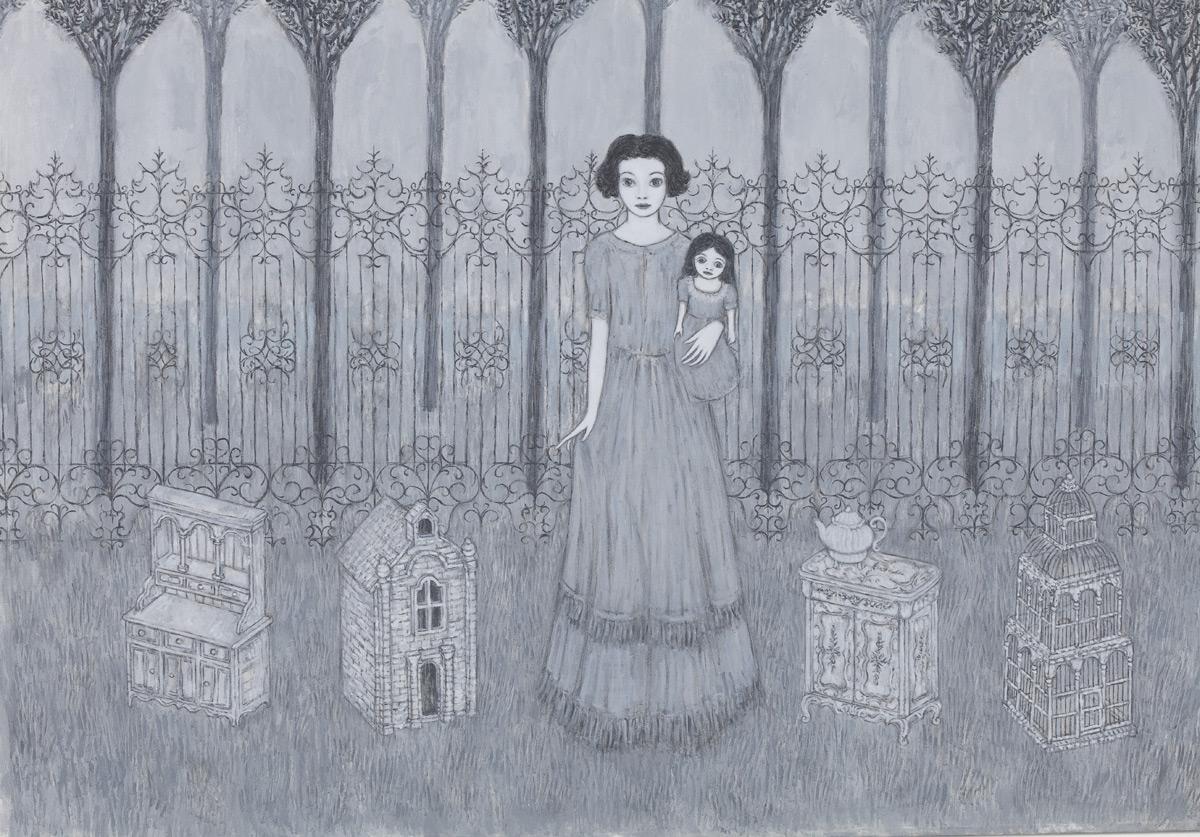 Marco Demis, Il ricatto, 2011, olio su tela, 100x100 cm