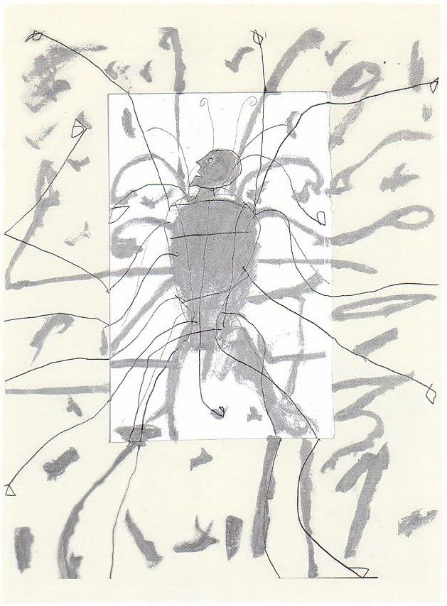 """""""Pinocchio"""", 2005, collage serigrafia, cm 60x45. Courtesy  L'ARIETEartecontemporanea Bologna"""