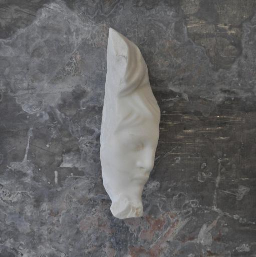 """Michelangelo Galliani, """"Senza Titolo"""", 2007, marmo statuario di Carrara e piombo, cm 40x40x20"""