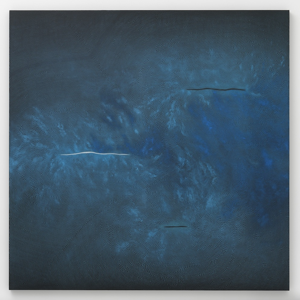 Right of Spring, 2012, Pencil, pigment and black aquacryl on canvas and aluminum. Courtesy the artist and Lisson Gallery