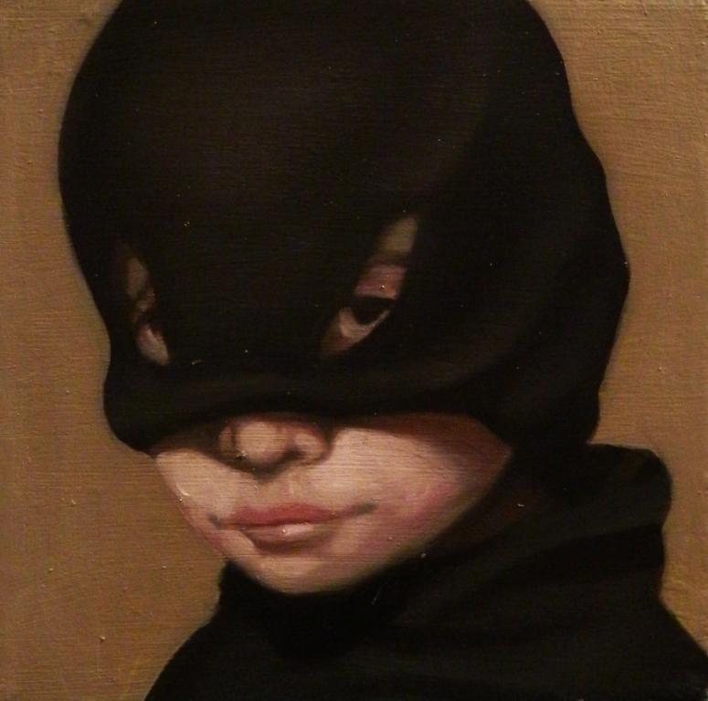 Giuliano Sale, Clown, olio su tela, 20x20 cm., 2012