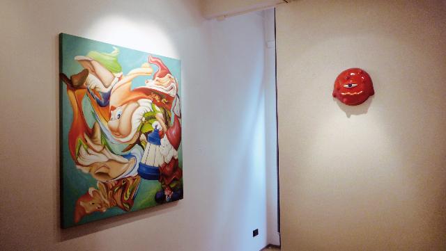 "Veduta della mostra ""Visibilità Ridotta"" da Studio Vigato, Milano"