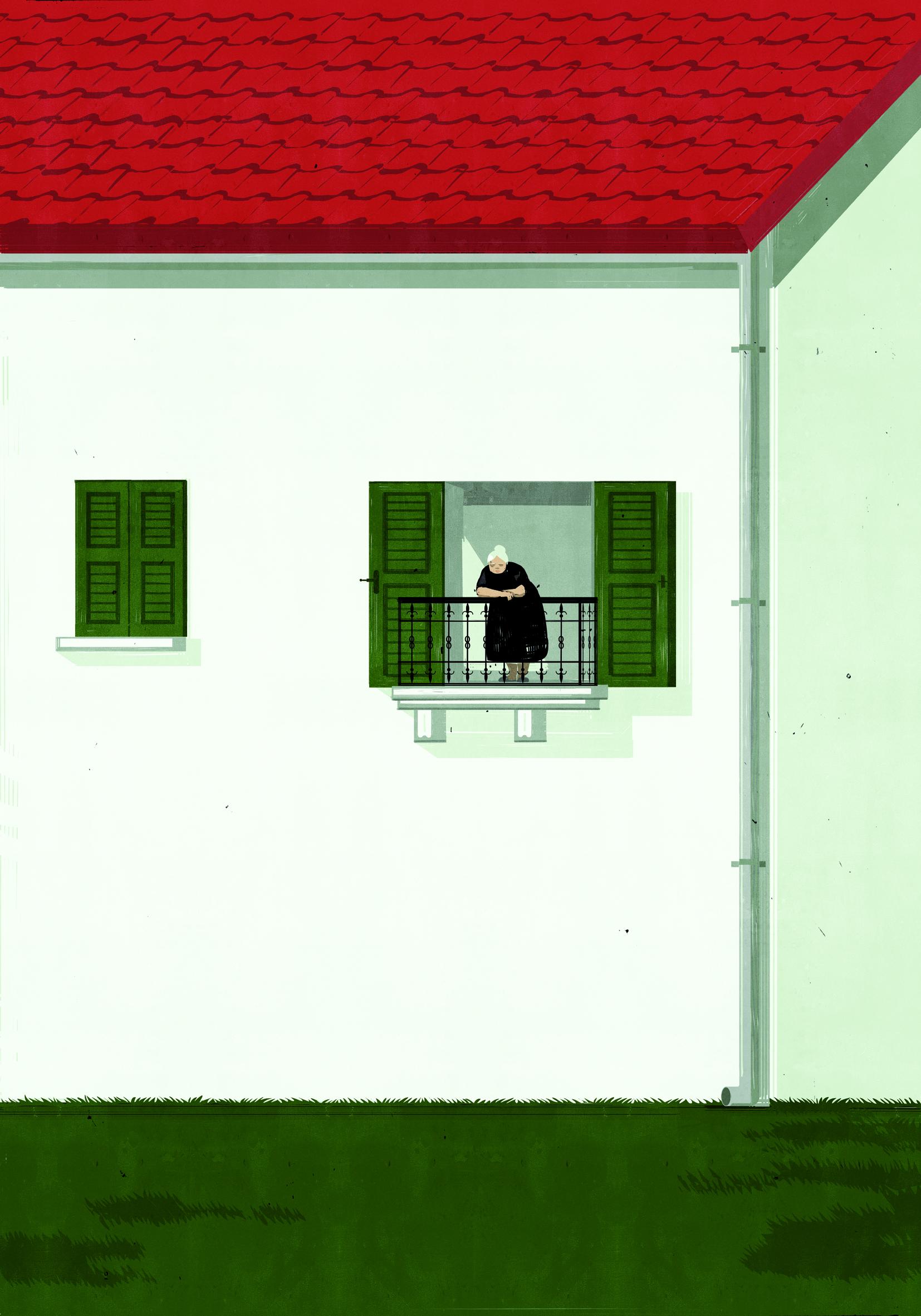 E' un paese per vecchi, immagine logo Komikazen 2012 by Shout