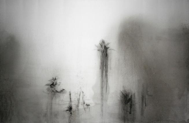 Daniele Giunta, STERNBILD 003, 2012, ink on silk, cm 130x200
