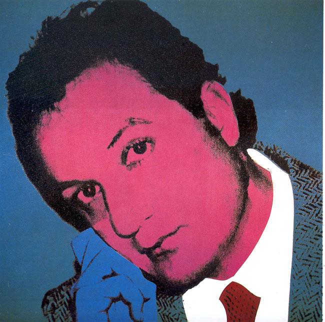 ENRICO COVERI, Ritratto, Andy Warhol,1983, serigrafia