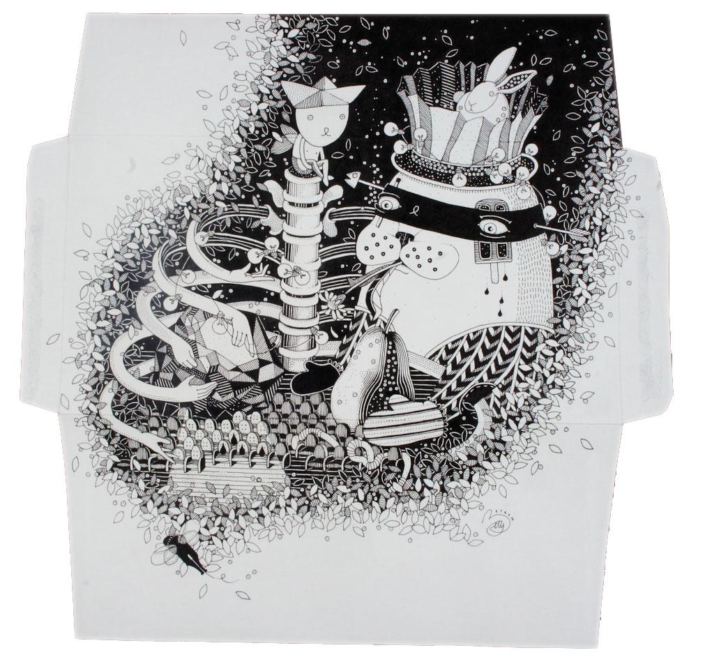 Elisabetta Barbaglia, La fiera del buon partito, 2012, inchiostro su carta, cm 16x22