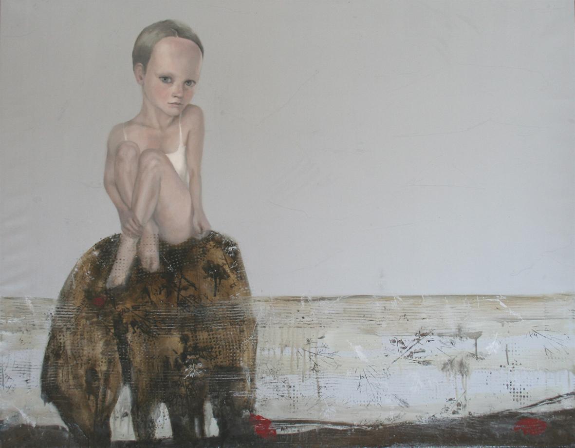 Ludmila Kazinkina, Wild woman, 2012, olio e smalto su tela, cm 110x140
