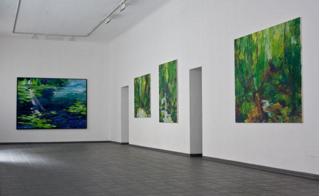 Veduta della mostra Bernd Zimmer. Seconda Natura da Studio d'Arte Cannaviello