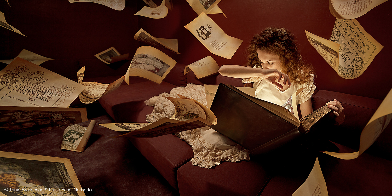 Tania Brassesco & Lazlo Passi Norberto, Fairy Book, 2011, 140x70cm, stampa lambda in edizione limitata di 7, dalla serie Fairy Tales Now