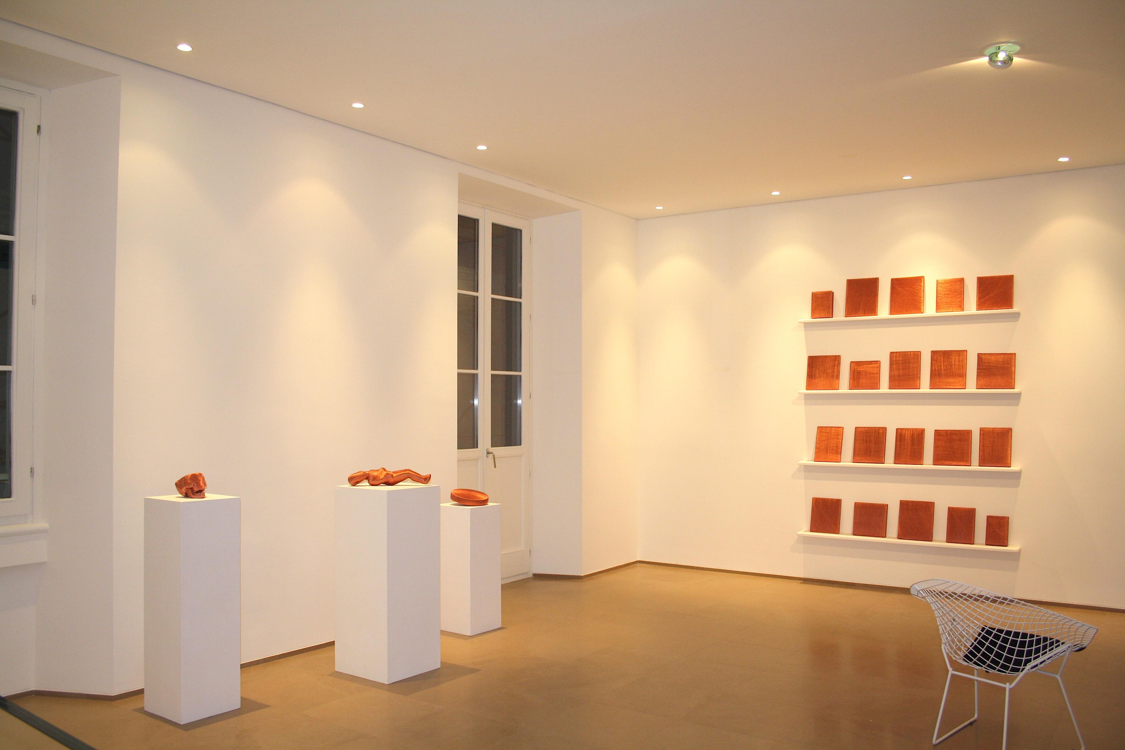 Veduta della mostra Alice Anderson's Timescale, Artopia, Milano