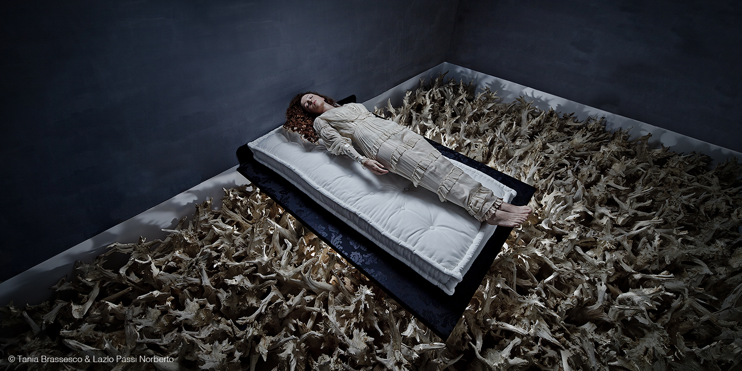 Tania Brassesco e Lazlo Passi Norberto, Sleeping Beauty, 2011, 140x70cm, stampa lambda in edizione limitata di 7, dalla serie Fairy Tales Now