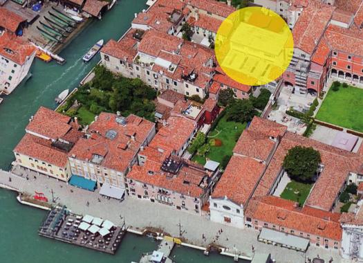 Veduta aerea Officina delle Zattere, Venezia