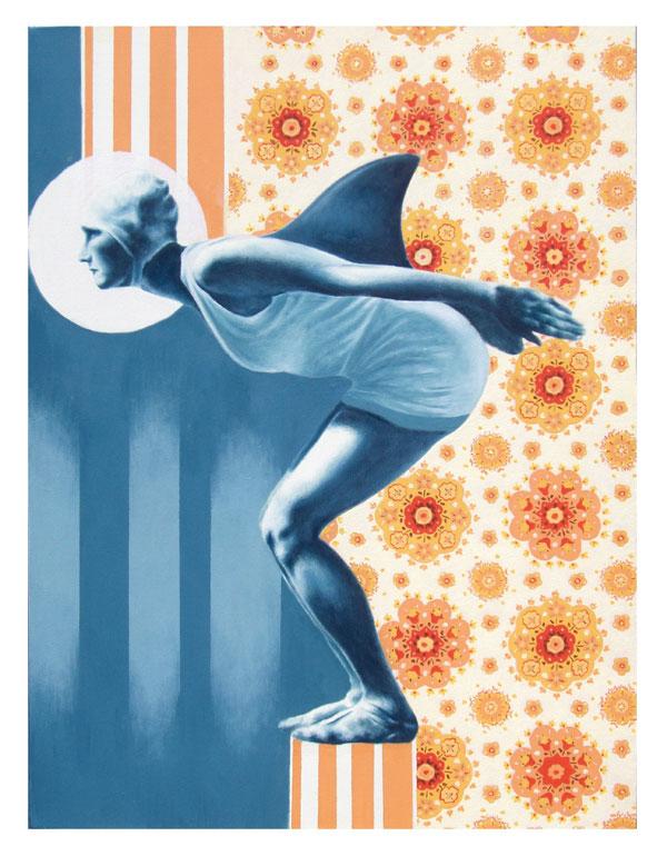 Tiziano Soro, Cleaning Service, 2012, acrilico su tela,  60x80 cm