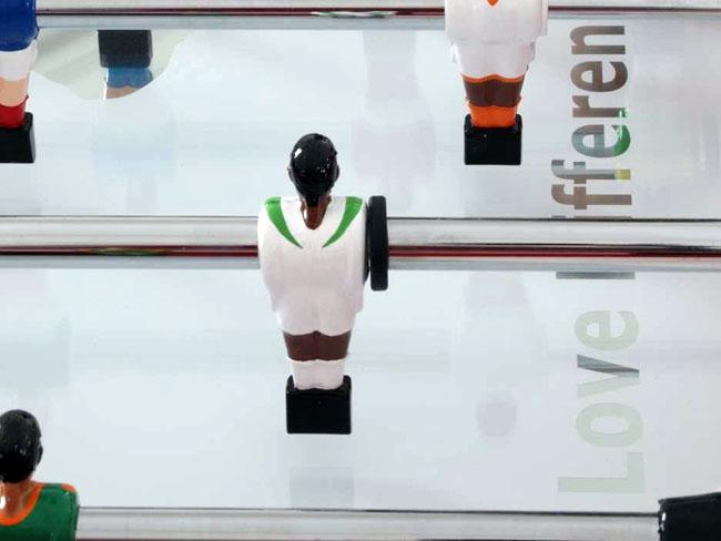 Michelangelo Pistoletto e Diego Paccagnella, CALCETTO LOVE DIFFERENCE, 2010, cm 110x140x92, a sostegno delle attività di Love Difference - Movimento Artistico per una Politica InterMediterranea