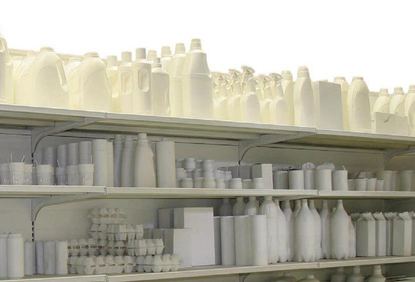 Andrea Francolino, White (particolare) LATO A 44,944 grammi di spazzatura verniciata bianca, 2012