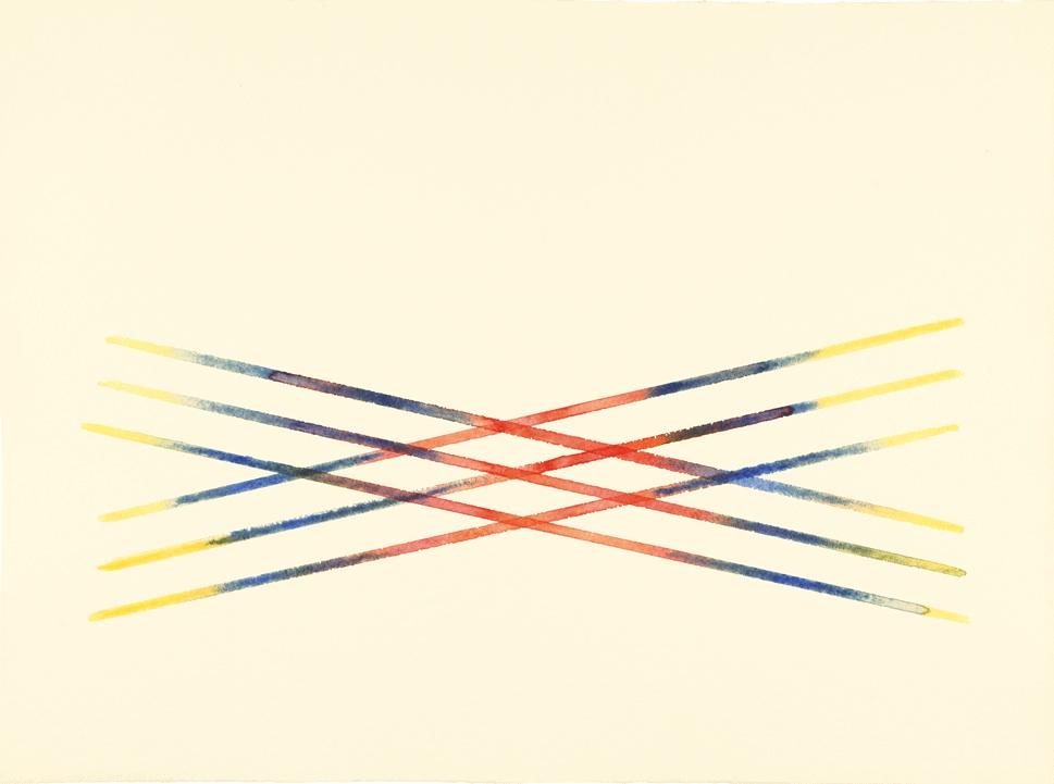 Carlo Cego,1986, acquerello su carta 56,5x76 cm