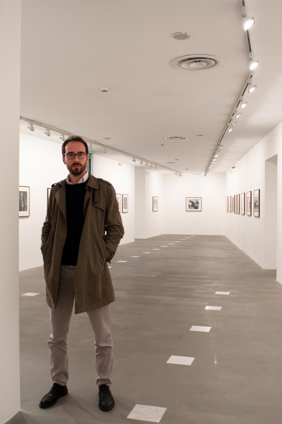 Ritratto di Lorenzo Giusti, direttore del Museo MAN di Nuoro